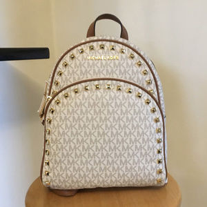 Michael Kors ABBEY Medium Frame Out Studs Backpack